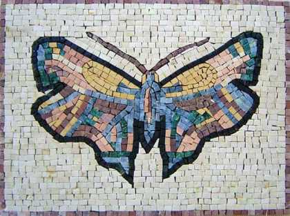 AN299 Beautiful colorful stone butterfly Mosaic