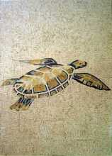 AN300 Green & yellow sea turtle Mosaic