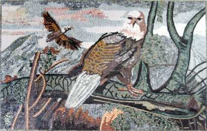 AN314 Flying eagle landscape Mosaic