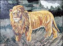 AN315 Beautiful golden lion scene Mosaic