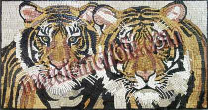 AN346 Two tiger heads Mosaic