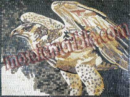 AN351 Golden eagle marble mosaic