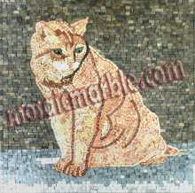 AN360 Golden cat mosaic