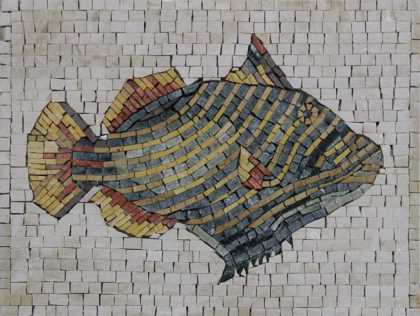 AN406 Colorful fish Mosaic
