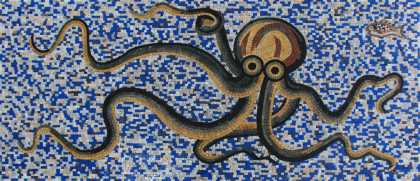 Pool Mosaic Octopus Tile Art