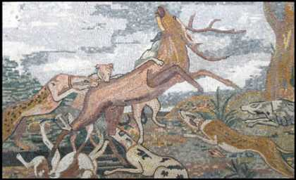 AN45 Gazelle attack scene Mosaic