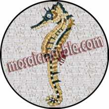 AN497 Colorful sea horse Mosaic