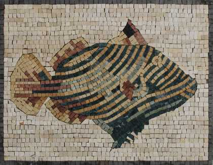 AN502 Cute Striped Fish Mosaic