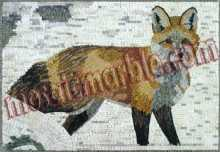 AN547 Fox with snow background Mosaic