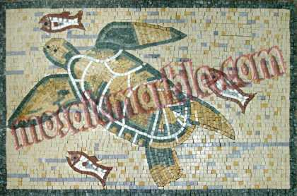 AN559 Sea turtle and fish Mosaic