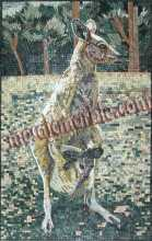 AN603 Mother & baby kangaroo scene Mosaic