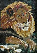 AN616 Lion head Mosaic