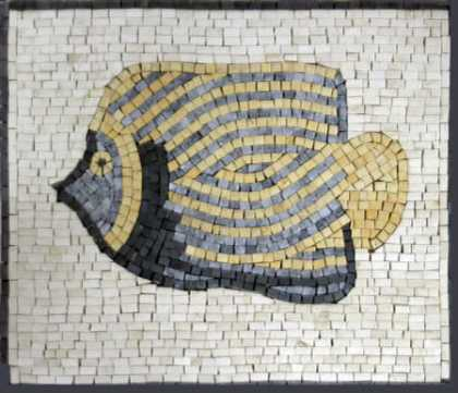 AN62 Simple Sea Nautical Fish  Mosaic