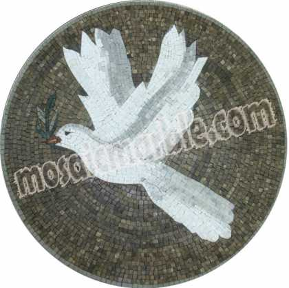 AN623 Dove on grey background Mosaic