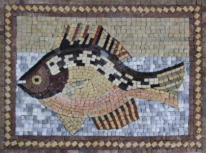 AN636 Multicolor fish Mosaic