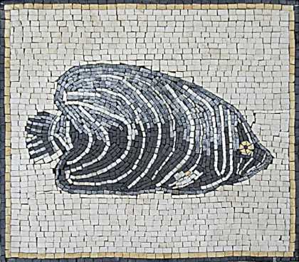 AN64 Grey & white fish Mosaic