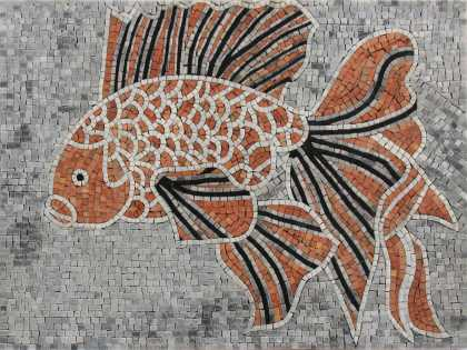 Exquisite fish animal art design bathroom pool decor Mosaic