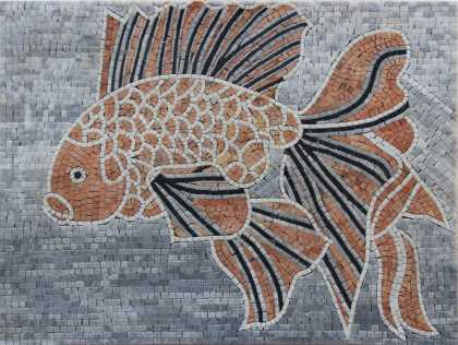 AN642 Beautiful red fish mosaic