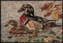 AN661 Mother and baby duck Mosaic