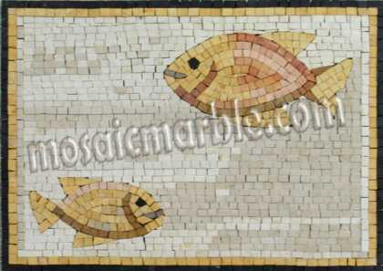 AN677 Mother & baby gold fish Mosaic