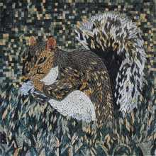 AN690 Squirrel in nature Mosaic