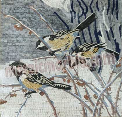 AN692 Birds on branches mosaic