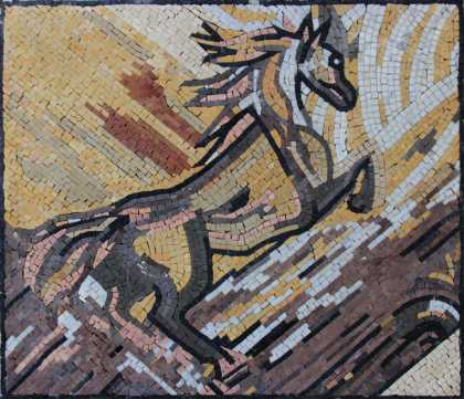 AN711 Earth colors wild horse  Mosaic