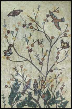 AN725 Birds flowers & butterflies Mosaic