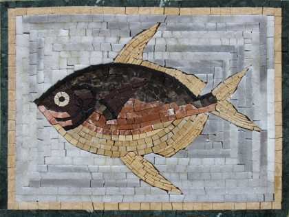 AN73 Beautifully colored fish Mosaic