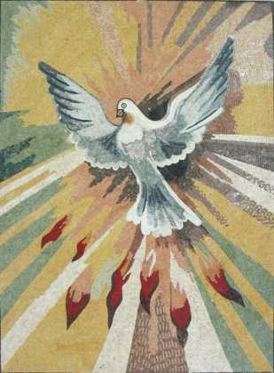 AN749 Dove of peace Mosaic