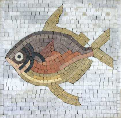 AN754 Faded multicolor fish Mosaic