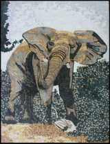 Tall Mosaic Theme Elephant