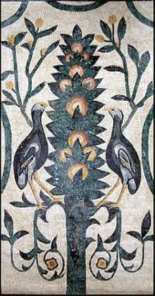 Birds and Flower Tree Mosaic