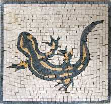 AN90 Black&gold lizard Mosaic