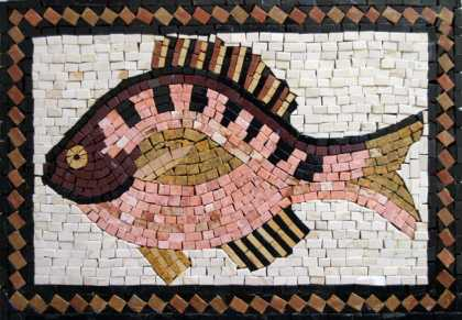 AN92 Beautiful tricolor fish Mosaic