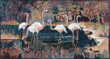 AN99 Flamingo's In The Water Scene Mosaic