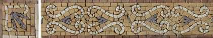 BD1055 Earth Tone Esses Tones Border Listello  Mosaic