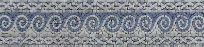 BD1056 Blue Waves Calm Tones Border Listello  Mosaic