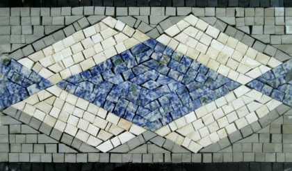 BD128 Diamond Shapes Border  Mosaic