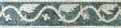 BD214 Border Wings Waves Lines  Mosaic
