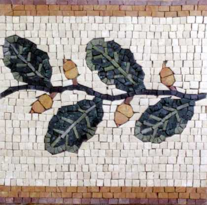 BD264 yellow buds and leaves border Mosaic