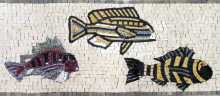 BD276 Fish parade border Mosaic