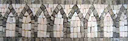 BD48 Grey simple structures border Mosaic