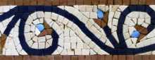BD66 Vines Flower Buds Border Mosaic