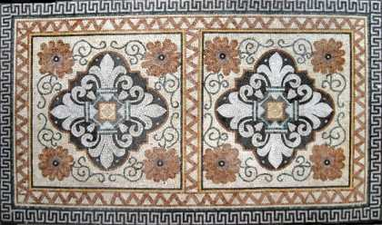 CR10 Symmetrical majestic patterns with border Mosaic
