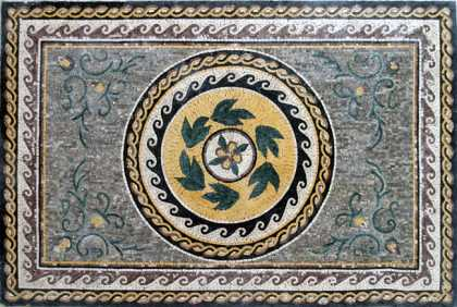 CR101 Roman leaves & wave borders Mosaic