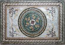 CR103 Roman leaves & flowers carpet Mosaic