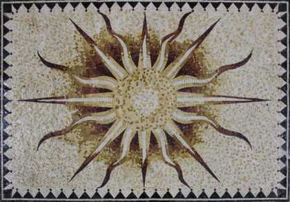 CR1132 Imperial Rug Sun Shiny Floor Art Home  Mosaic