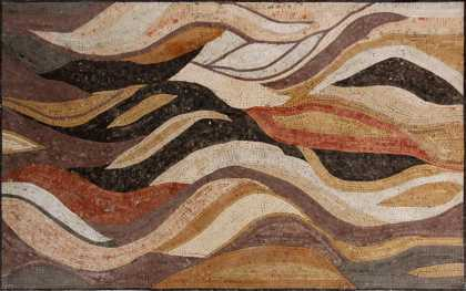 CR1178 Earth colors waves carpet Mosaic