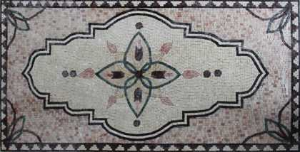 CR1208 Geometric Lotus Mosaic